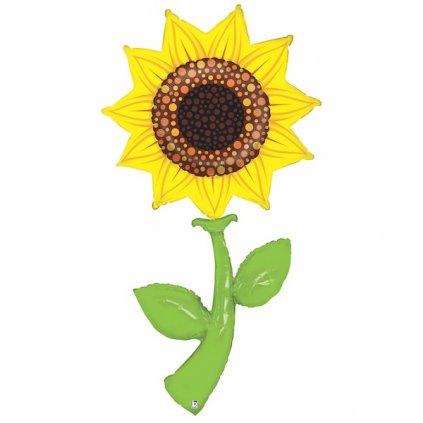 BALÓN EXTRA VELKÝ  fóliový Slunečnice 150 cm