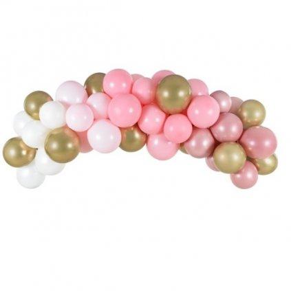 SADA balonků na balonkovou girlandu Růžová 2m 61ks