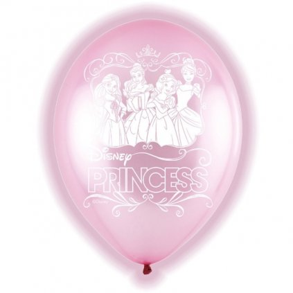 BALÓNKY latexové LED Disney Princess 27,5cm 5ks