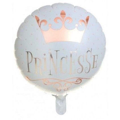 BALÓNEK fóliový Princesse Rose Gold 45cm