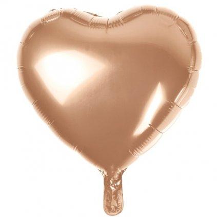 BALÓNEK fóliový Srdce Rose Gold 37cm