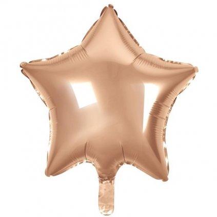 BALÓNEK fóliový Hvězda Rose Gold 48cm