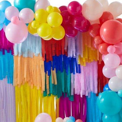SET pro přípravu fotopozadí z třásní a balónků Multicolor