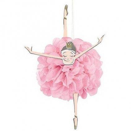 POM POMS dekorační Baletka 3ks