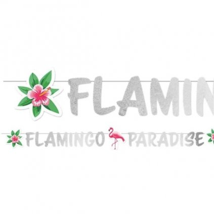BANNER Flamingo Paradise 135cm