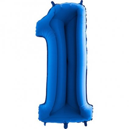 BALÓN ČÍSLO fóliový modrý vel.: 102 cm