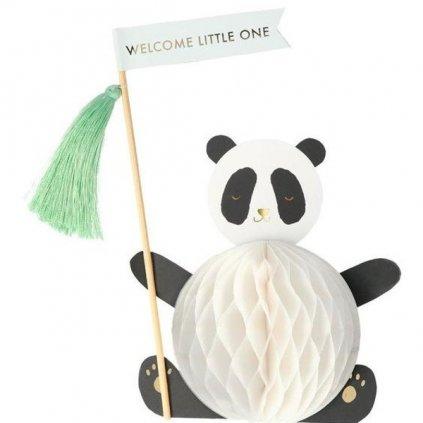 BLAHOPŘÁNÍ Panda k narození dítěte - Meri Meri