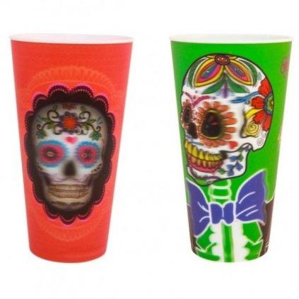 Halloween 3D kelímky Day of the Dead - Den Mrtvých