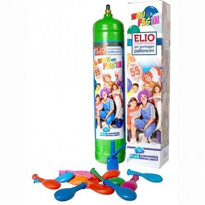 Helium do 25 balonků (balonky součástí balení)