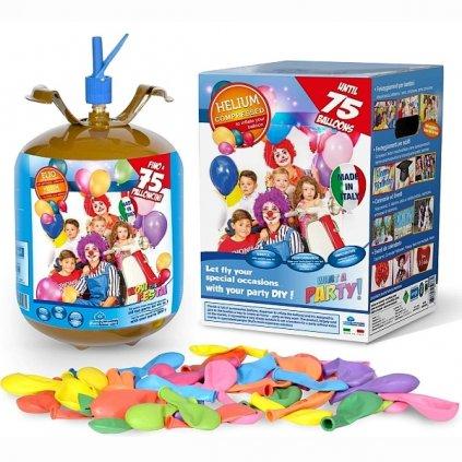 Helium do 75 balonků (balonky součástí balení)