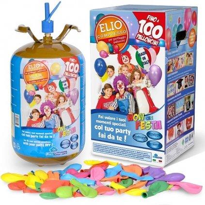 Helium do 100 balonků (balonky součástí balení)