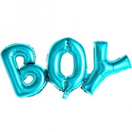 Balonek foliový nápis BOY modrý 67x29cm