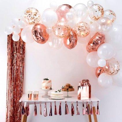 Balonkový set na výrobu balonkového oblouku (girlandy). Barva rose gold
