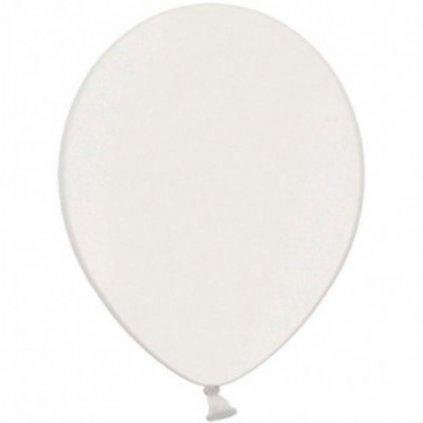 Balonek Strong latexový metalický bílý 30cm