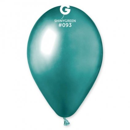 Balonek  latexový chromově zelený 30cm