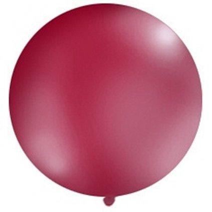 Balón kulatý obří o průměru 1 m  ks  bordo