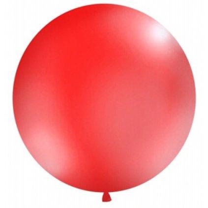 Balón kulatý obří  z přírodního latexu o průměru 1 m červený