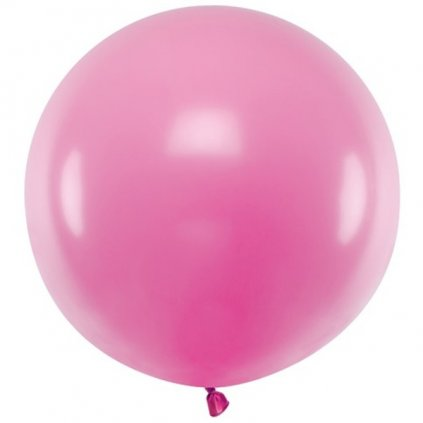 Balón kulatý obří z přírodního latexu o průměru 60 cm magenta