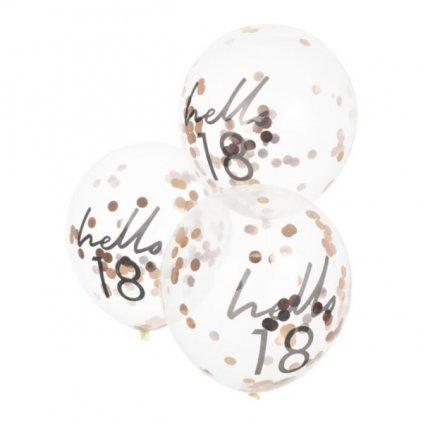 BALÓNKY s konfetami Hello 18
