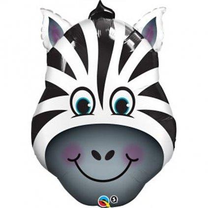 Balonek foliový hlava Zebra