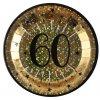 Talíře narozeninové 60 let zlatočerné 10ks