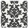 Ubrousky papírové černý ornament 33x33 20ks