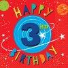 Ubrousky papírové Vesmír 3. narozeniny 33x33cm 16ks