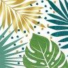 Ubrousky tropické listy 33x33cm 16ks
