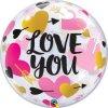 BALÓNOVÁ bublina Love you Srdce a šípy