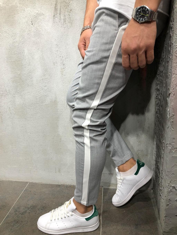 Kalhoty Saman - světle šedé