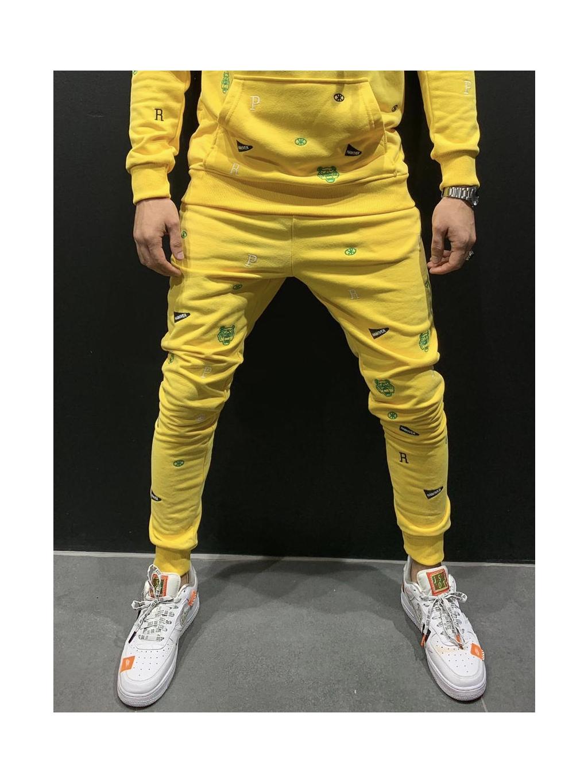 Tepláky Center - žluté