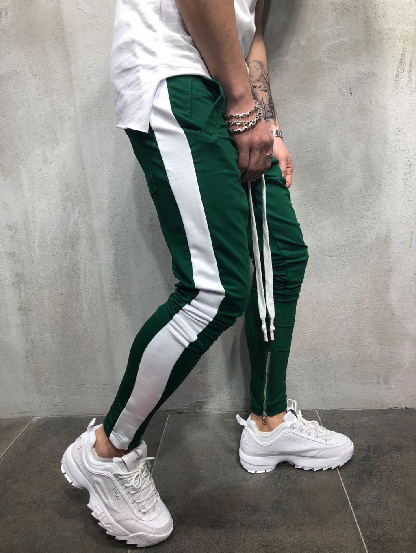 Tepláky Color - zelenobílé