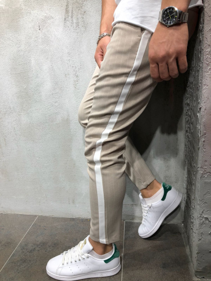 Kalhoty Saman - béžové