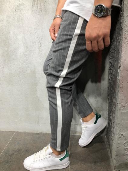Kalhoty Saman - šedé