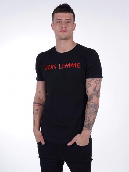 Tričko Brand - černočervené