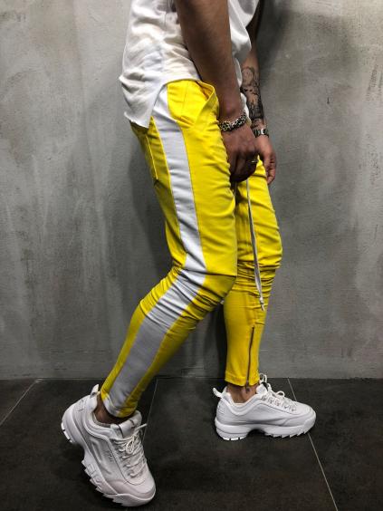 Tepláky Color - žluté
