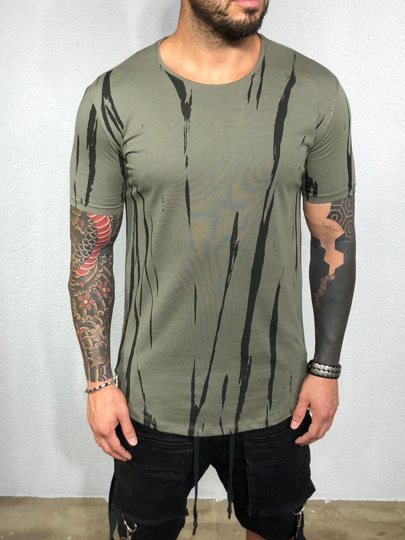 Tričko Round - khaki