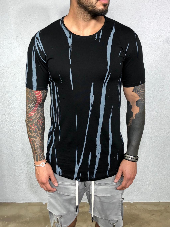 Tričko Round - čierné
