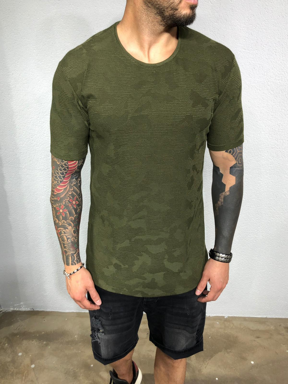 Tričko Mapa - khaki
