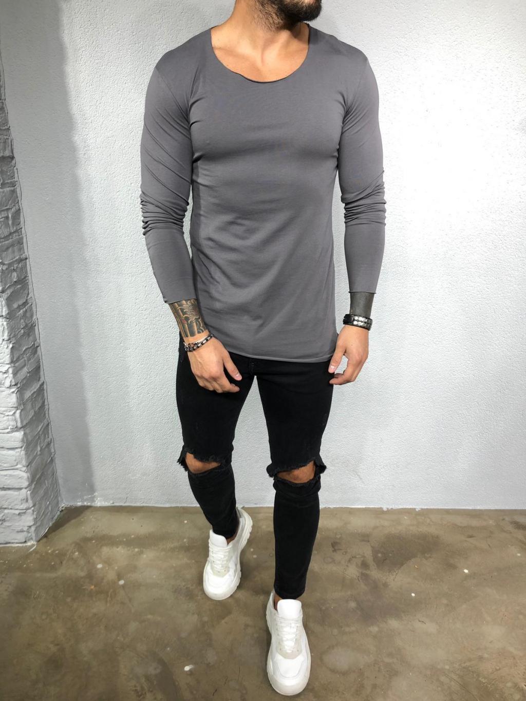 Tričko Beef - tmavé sivé