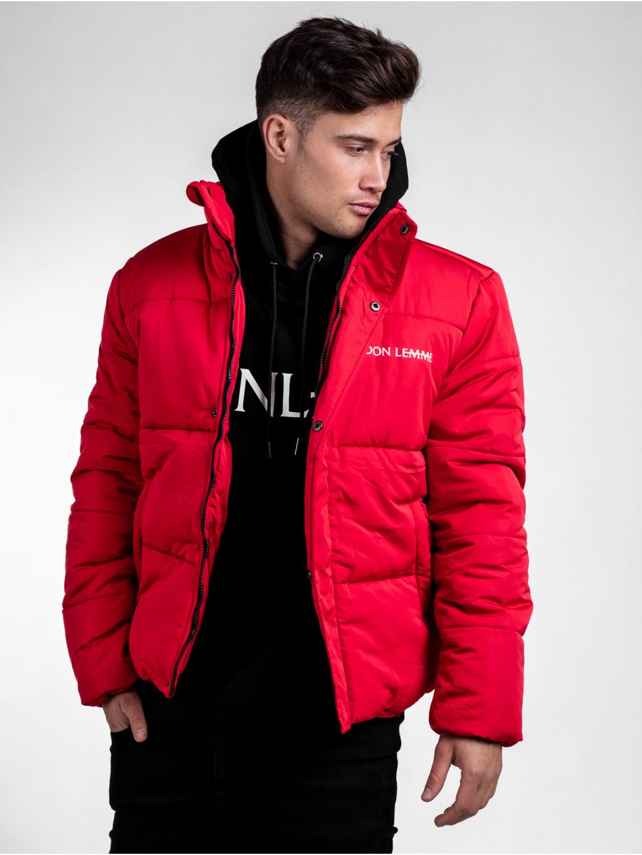 Zimná bunda Panel - červená