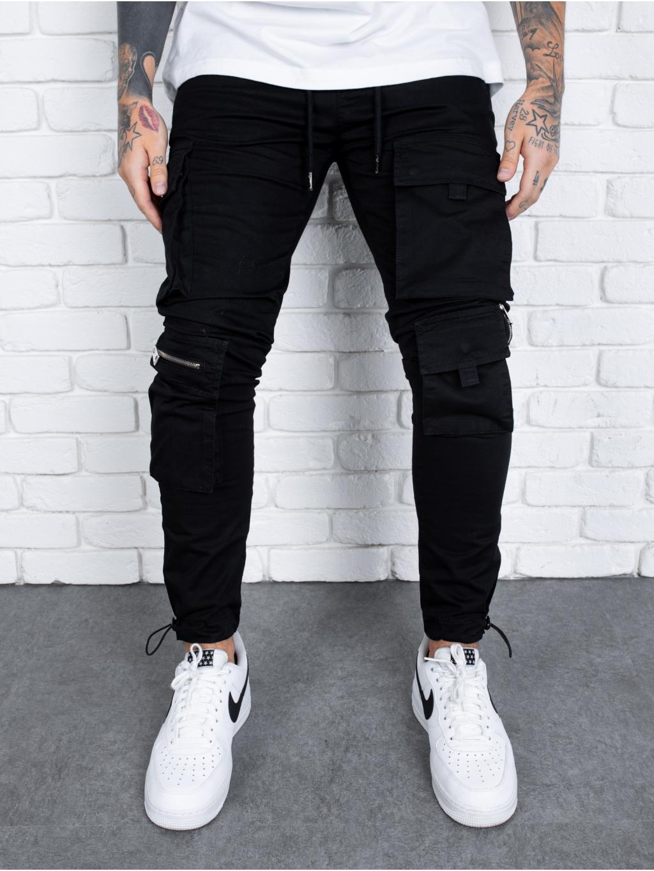 Nohavice Door - čierné