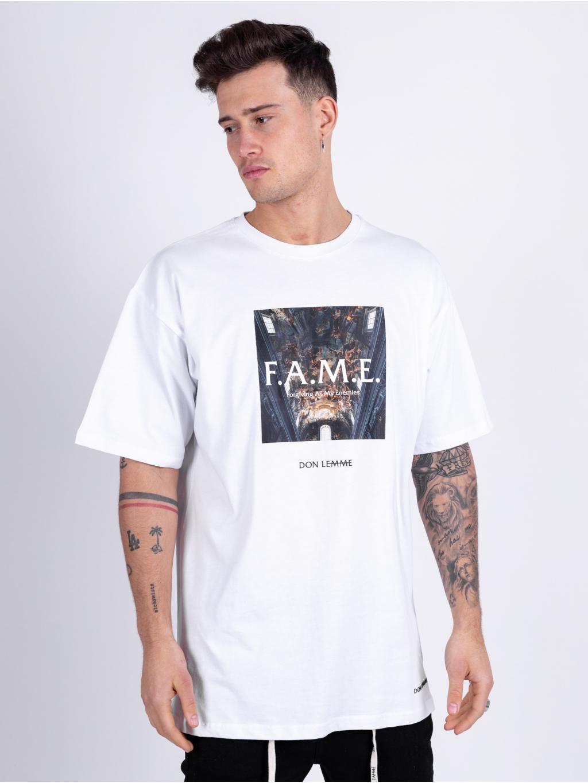 Oversized Tričko Fame - bielé