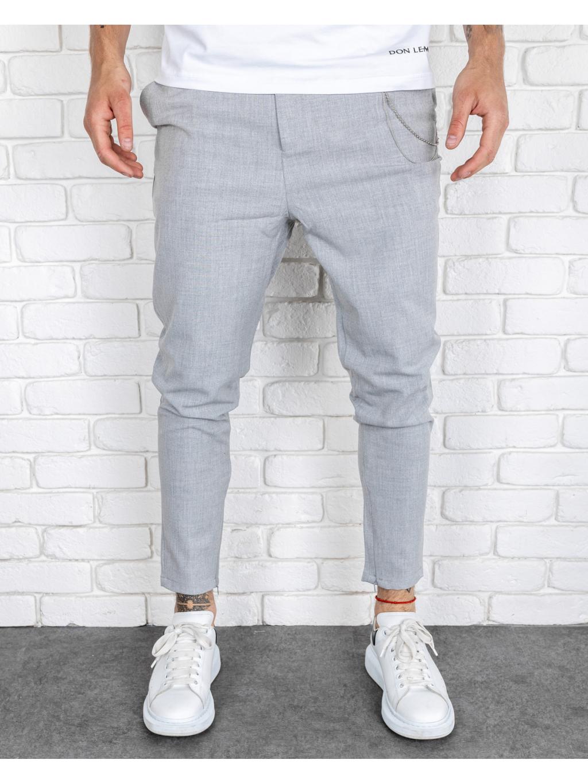 Nohavice Glass - šedá