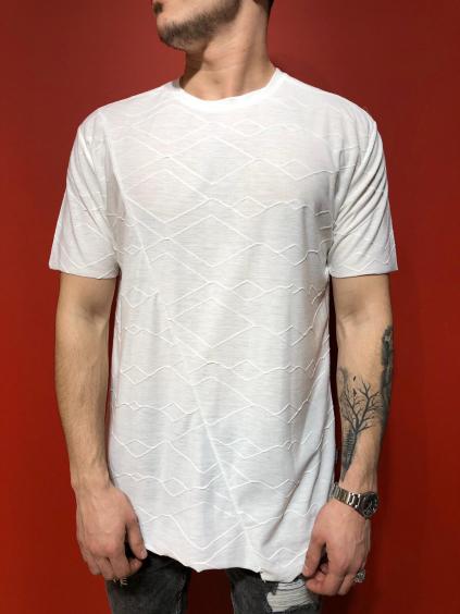 Tričko Fake - biela