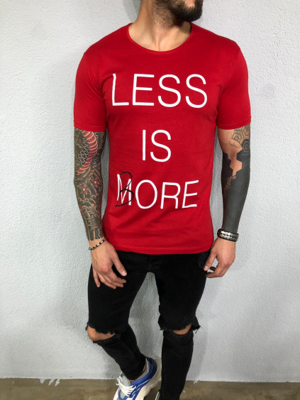 Tričko Less - červené
