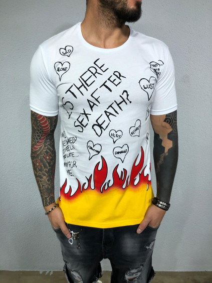 Tričko Death - bielé