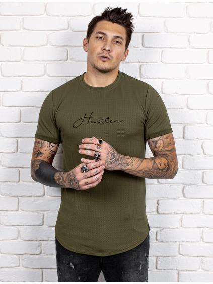 Tričko Hustler - khaki