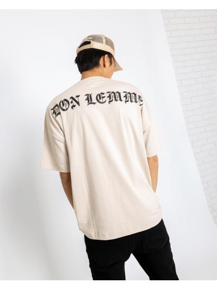 Unisex Tričko Goth - světle béžové