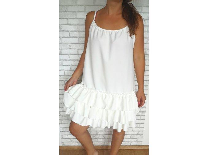šaty volány bílé
